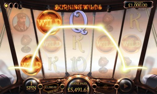 Burning Wilds feature triggers an big win by Hotslot
