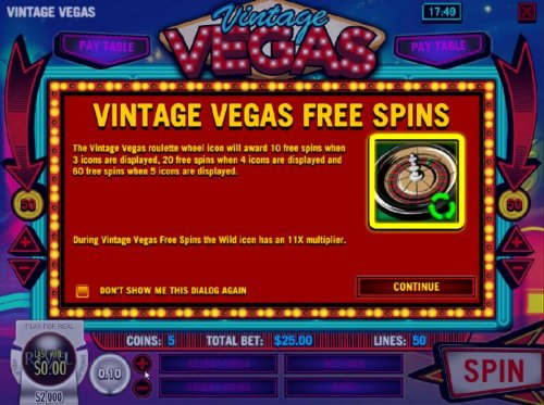 Free Spins - The roulette wheel icon will award 10 free spins when 3 icons are displayed, 20 free spins when 4 icons are displayed and 60 free spins when 5 icons are displayed. During the free spins the wild icon has an 11x multiplier. by Hotslot