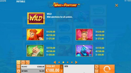 Hotslot image of Wins of Fortune