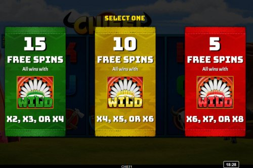 Hotslot - Pick your free spins feature