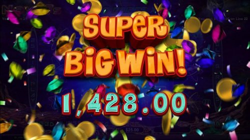 A Super Big Win 1,428.00 awarded. by Hotslot