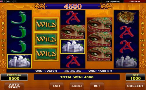 Multiple winning combinations triggers a big win by Hotslot