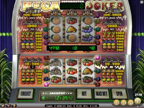 Hotslot - three of kind triggers a 40 coin jackpot