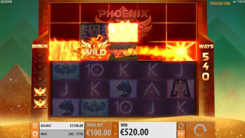 Respins continue as long as Phoenix Wilds keep appearing on screen. by Hotslot
