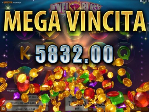 The Bonus Blast feature pays out a totall of 5,832.00 for a mega win. by Hotslot