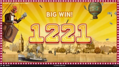 Hotslot - A pair of winning paylines leads to a 1221 coin big win.