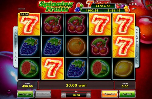 Spinning Fruits screenshot