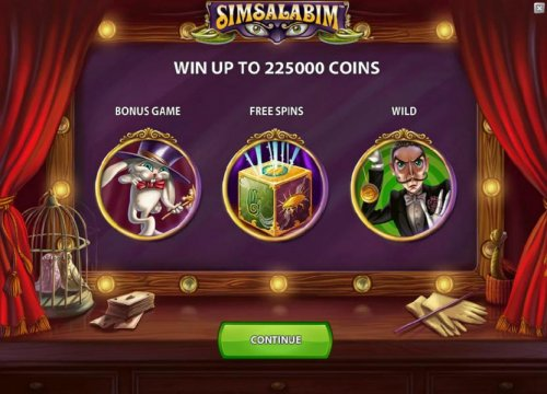 you can win to 225000 coins and the game features a bonus game, free spins and wilds - Hotslot