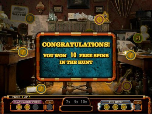 Hotslot - After making the 5 picks, 10 free spins awarded.
