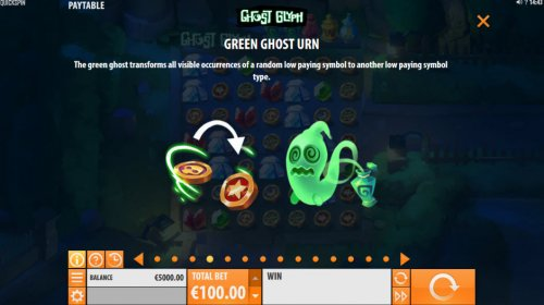 Hotslot - Green Ghost Urn Feature