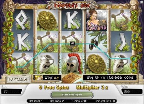 free spins feature triggers a 355 coin payout by Hotslot