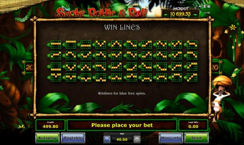 Blue Free Spins Win Lines 1-40 - Hotslot