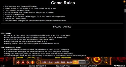 General Game Rules by Hotslot
