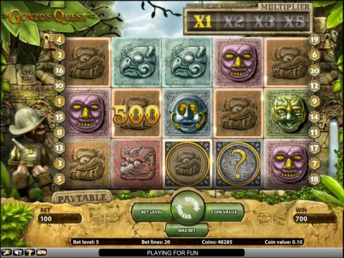 Gonzo's Quest slot game 700 coin jackpot - Hotslot