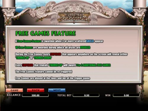 Hotslot - free games feature paytable and rules