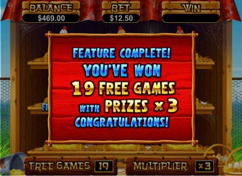 free spins feature complete. 19 free games with prizes x3 - Hotslot