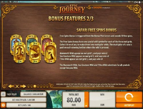 Safari Free Spins Bonus - how to play and rules by Hotslot
