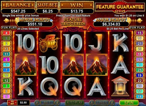 multiple winning paylines triggers an $1078 big win during free games feature - Hotslot