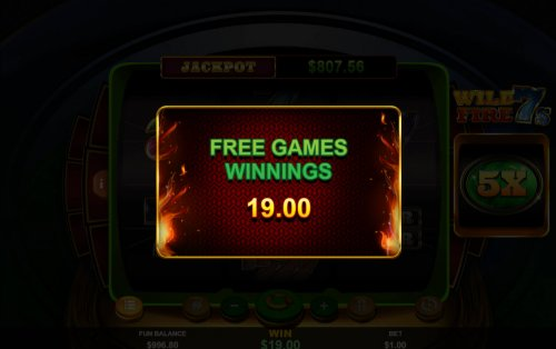 Total Free Spins Payout - Hotslot