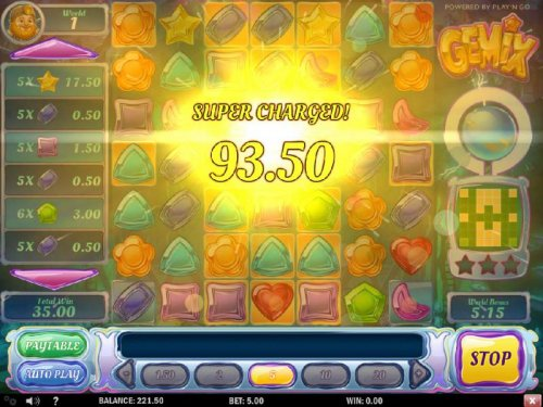 Crystal Charge leads to a Super Charged 93.50 big payout - Hotslot