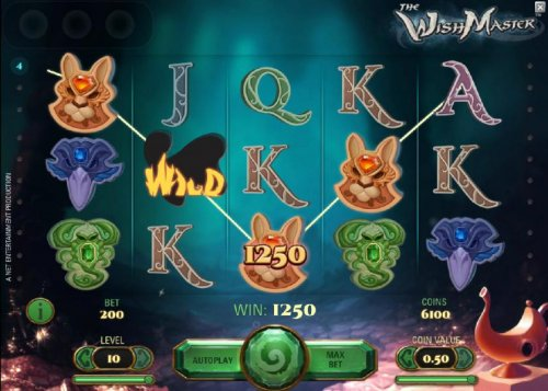 four of a kind triggers a 1250 coin payout by Hotslot