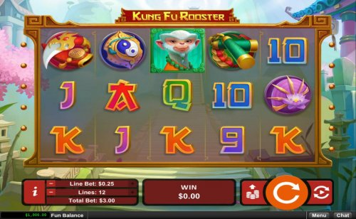 Main game board featuring five reels and 12 paylines with a $12,500 max payout. by Hotslot