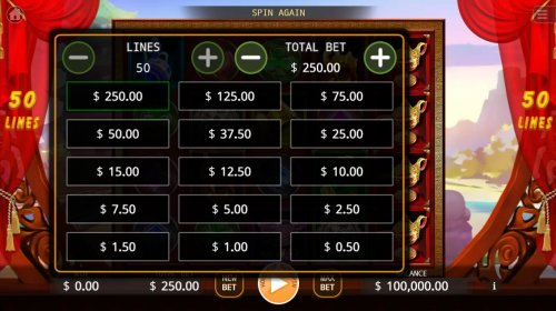 Available Betting Options - Hotslot