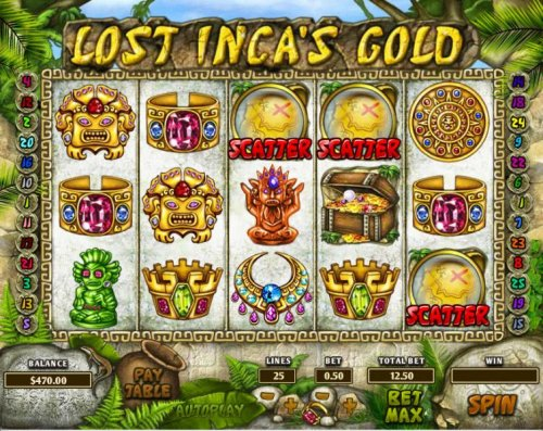 three scatter symbols triggers the free spins feature - Hotslot