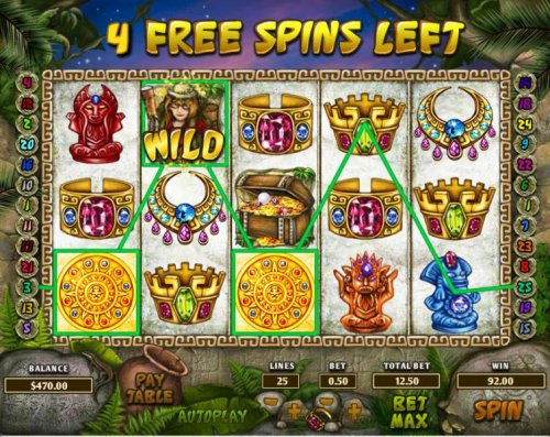 Hotslot - $92 jackpot triggered by three of a kind during the free spins feature