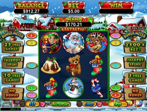 Main game board featuring three reels and 5 paylines with a $600 max payout by Hotslot