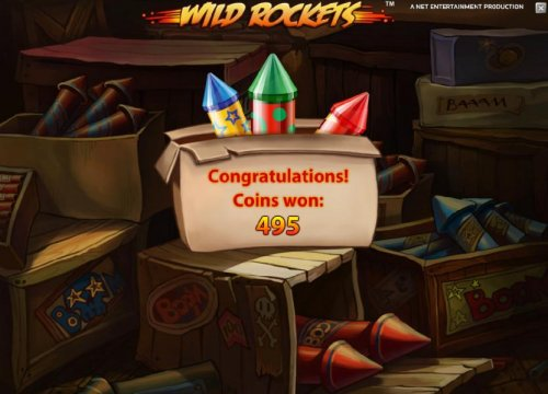 Hotslot - the free spins feature pays out a total of 495 coins