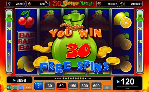 30 free spins awarded by Hotslot