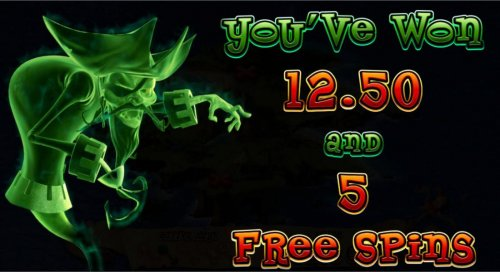Five free spins awarded. - Hotslot