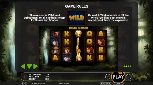 Film cell wild is wild and substitutes for all symbols except for bonus ans scatter. On  reel 3, wild expands to fill the whole reel if at least 1 win would result from the expansion. - Hotslot
