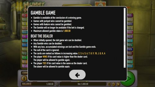Hotslot - Double Up Gamble Feature Rules