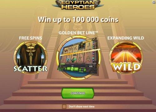 game features - win up to 100000 coins, free spins, golden bet line and expanding wild by Hotslot