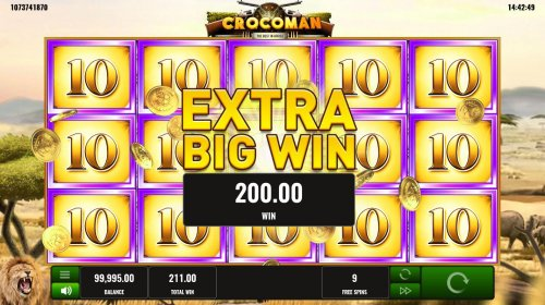 Hotslot - Extra Big Win triggered during free games feature