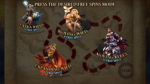 Pick one of four free spins game to play - Hotslot