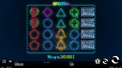 Hotslot - Main game board featuring five reels and 30 paylines with a $240,000 max payout
