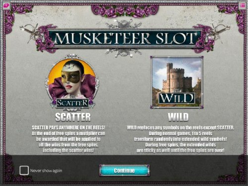 Scatter Pays anywhere on the reels. Wild replaces any symbol on the reels except scatter - Hotslot