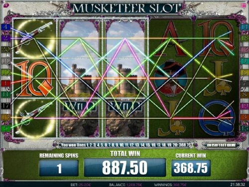 Multiple winning paylines triggers a big win during the free spins feature.! - Hotslot