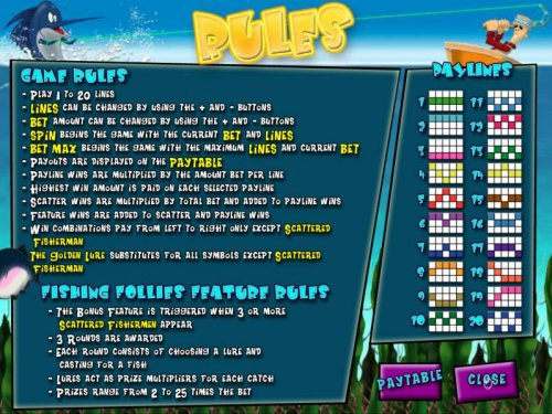 Hotslot - game rules, feature rules and payline diagrams