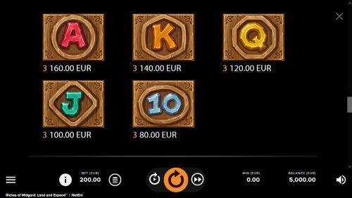 Paytable - Low Value Symbols by Hotslot