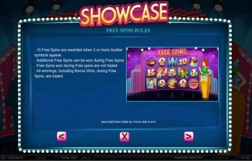 Hotslot - Free Spins Rules - 15 free spins are awarded when 3 or more scatter symbols appear.
