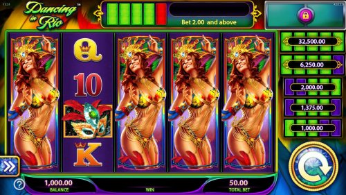 Hotslot - Main game board featuring five reels and 40 paylines with a $250,000 max payout