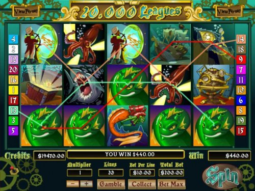 A $440 jackpot triggered by multiple winning paylines. by Hotslot