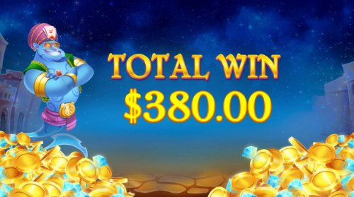 lamp Bonus feature pays out a total of 380 - Hotslot