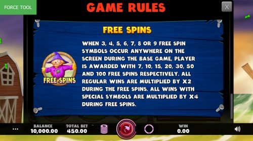 Hotslot - Free Spins Rules
