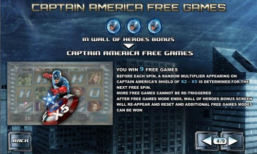 Captain America free games feature rules - Hotslot
