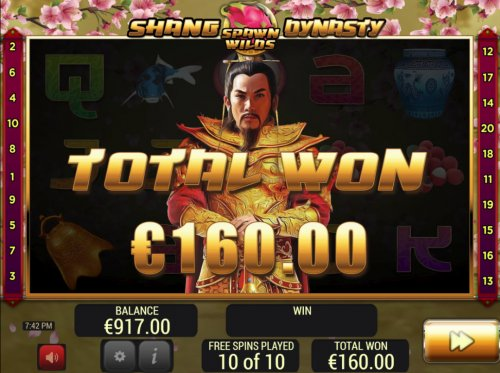 Hotslot - Total Free Spins Payout